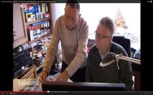 Klaus Roth und Werner Bischoff aktiv in Sachen Kanal TÜV (Quelle WDR_You Tube